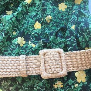 YSL Rive Gauche wise raffia belt, medium or large
